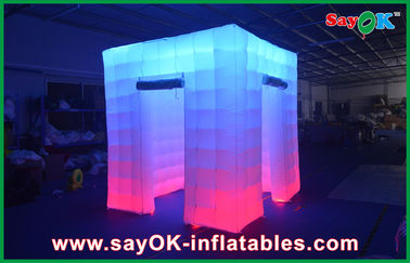 2.4x2.4x2.5 m Lớn Inflatable Led Photo Booth Wedding Gian Hàng Inflatable